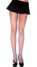 Leopard Fishnet Pantyhose