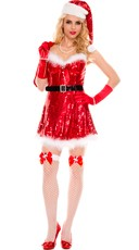 Sparkly Miss Santa Costume