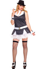 Plus Size Sexy Gangster Girl Costume