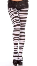 Black And White Striped Pantyhose