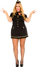 Plus Size Mile High Club Stewardess Costume