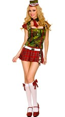Plaid and Camo Army Recruit Costume