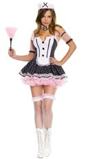 Polka Dot Tuxedo Maid Costume