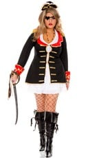 Plus Size Cute Captain Costume