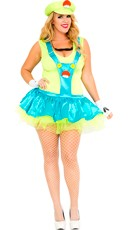 Plus Size Green Playful Plumber Costume