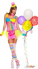 Miss Clowning Around Clown Costume