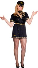 Plus Size Foxy Flight Attendant Costume