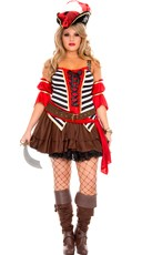 Plus Size Plundering Private Pirate Costume