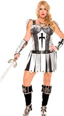 Plus Size Hot Female Knight Costume