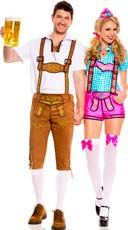 Lederhosen Beerfest Couples Costume