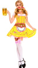 Bright Dirndl Beer Girl Costume