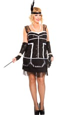 Plus Size 1920s Flapper Fever Costume