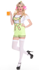 Green Bavarian Beer Girl Costume