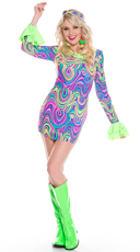 Psychedelic Hippie Chick Costume