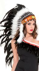 Pure White Indian Headdress