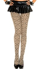 Tribal Print Opaque Pantyhose