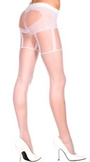 Sweetheart Illusion Garterbelt Pantyhose