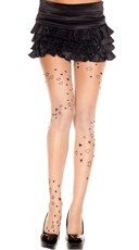 Heart and Star Print Pantyhose