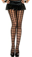 Sheer Pantyhose With Pothole Pattern