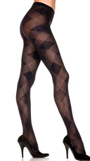 Sheer Pantyhose Large Diamond Pattern