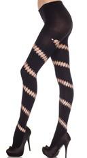 Diagonal Opaque Striped Pantyhose