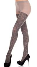 Grey Leopard Tights