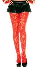Sheer Floral Print Pantyhose