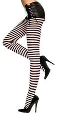 Plus Size Opaque Striped Tights