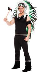 Men's Cherokee Warrior Indian Costume