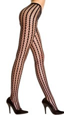 Striped Crochet Seamless Pantyhose