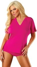 Bamboo V-Neck Sleepwear T-Shirt