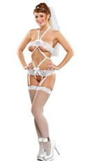 Black Diamond Teddy With Garters