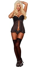 Plus Size Baby Doll and G-String