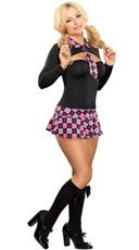 Pink Schoolgirl Costume