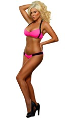 Neon Bandeau Bra and Panty