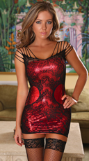 Plus Size Lock Me Up Temptress Lace Dress Set