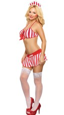 Plus Size Kandy Striper Lingerie Costume