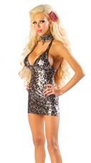 Metallic Leopard Dress