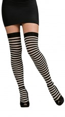 Midnight Striped Stockings