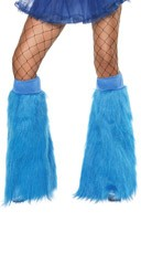 Neon Blue Furry Bootcovers