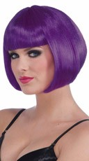 Neon Purple Bobbed Wig