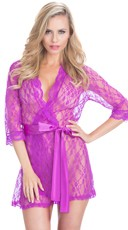 Scalloped Lace Robe