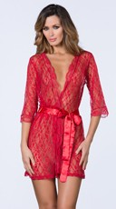 Pretty Scalloped Lace Robe
