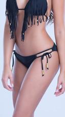 Double Strap Beaded Bikini Bottom