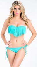 Fringe Bandeau String Bikini