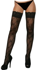 Lace Patterned Thigh Highs
