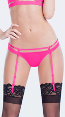 Strappy Thong with Detachable Garters