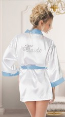 Satin Rhinestone Bride Robe