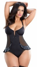 Plus Size Peplum Teddy