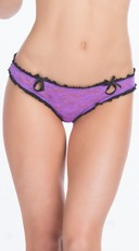 Lace Thong With Keyholes